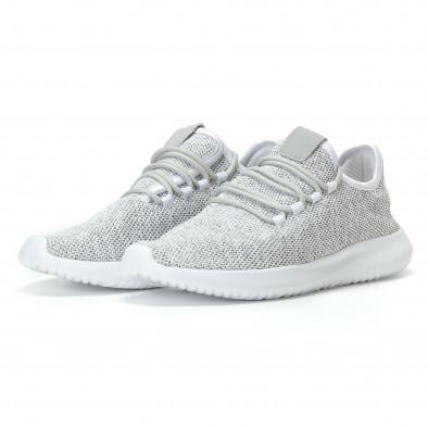 Ανδρικά γκρι αθλητικά παπούτσια Kiss GoGo it110817-71 3