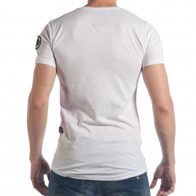 Ανδρική λευκή κοντομάνικη μπλούζα Breezy tsf140617-2 3