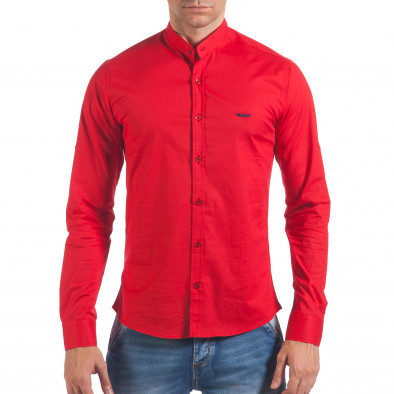 768b29932fc5 Ανδρικό κόκκινο πουκάμισο Buqra il060616-108 - Fashionmix.gr