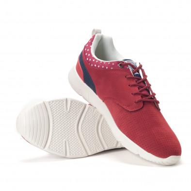 Ανδρικά κόκκινα αθλητικά παπούτσια Montefiori it250118-21 4