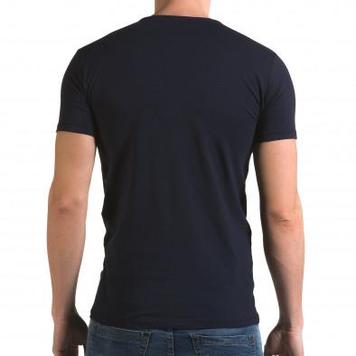 Ανδρική γαλάζια κοντομάνικη μπλούζα Lagos il120216-8 3