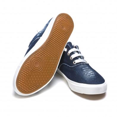 Ανδρικά γαλάζια sneakers Gira Sole It050216-19 4