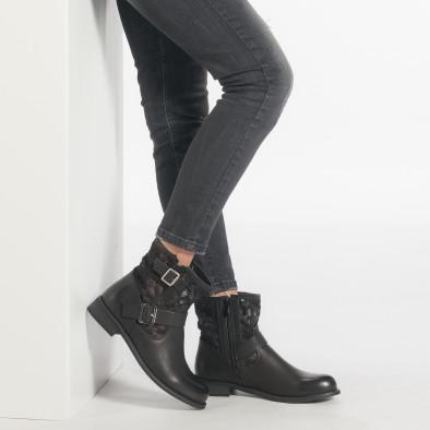 Γυναικεία μαύρα μποτάκια Diamantique it240118-5 3
