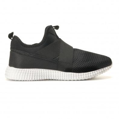 Ανδρικά μαύρα αθλητικά παπούτσια Naban it110517-2 3