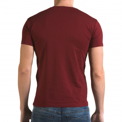 Ανδρική κόκκινη κοντομάνικη μπλούζα Lagos il120216-7 3