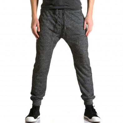 Ανδρικό γκρι παντελόνι jogger Dress & GO ca190116-29 2