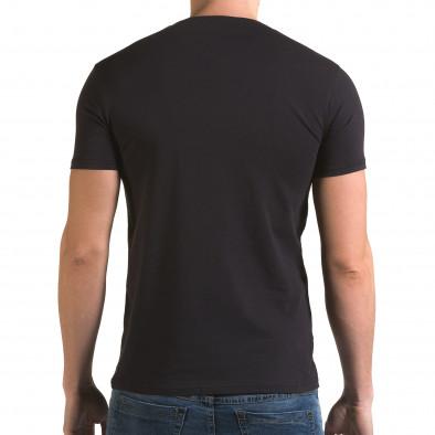 Ανδρική γαλάζια κοντομάνικη μπλούζα Lagos il120216-44 3