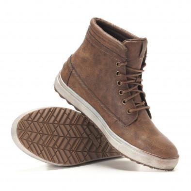 Ανδρικά καφέ sneakers Gradella it291117-32 4