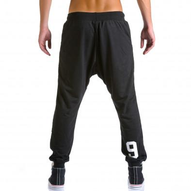 Ανδρικό μαύρο παντελόνι jogger Eadae Wear ca260815-30 3