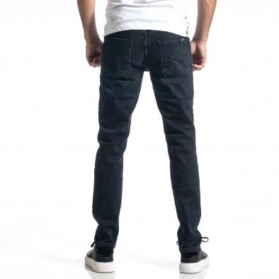 Ανδρικό σκούρο μπλε τζιν Long Slim tr010221-30 3