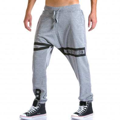 Ανδρικό γκρι παντελόνι jogger Eadae Wear ca260815-29 4