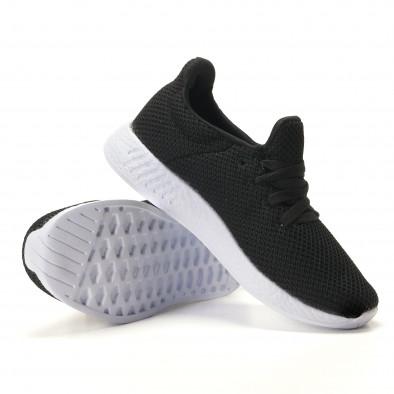 Ανδρικά μαύρα αθλητικά παπούτσια Naban it100317-7 4