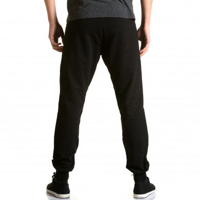 Ανδρικό μαύρο παντελόνι jogger DelPiero ca190116-25 3