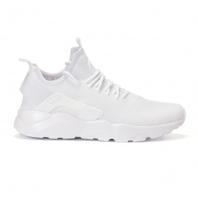 Ανδρικά λευκά υφασμάτινα αθλητικά παπούτσια it160318-4 - Fashionmix.gr 63145959ab0