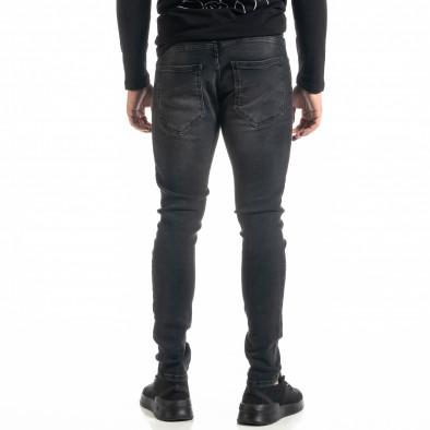 Ανδρικό μαύρο τζιν με σκισίματα tr020920-11 3