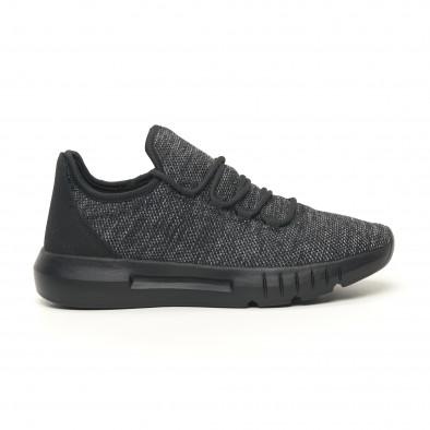 Ανδρικά μαύρα μελάνζ αθλητικά παπούτσια ελαφρύ μοντέλο it041119-6 3