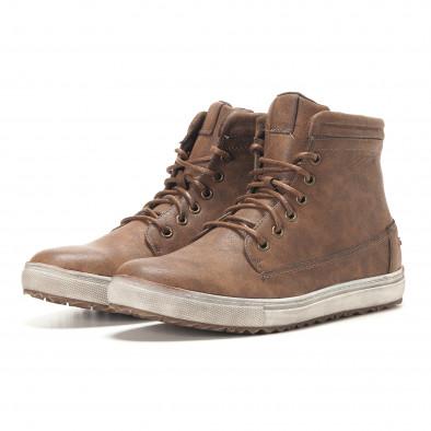 Ανδρικά καφέ sneakers Gradella it291117-32 3