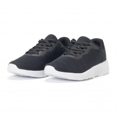 Ανδρικά μαύρα διχτυωτά αθλητικά παπούτσια it160318-35 3