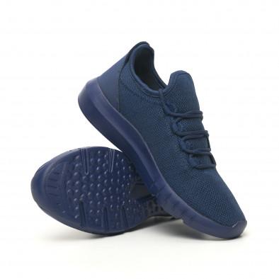 Ανδρικά μπλε μελάνζ αθλητικά παπούτσια ελαφρύ μοντέλο it041119-2 4