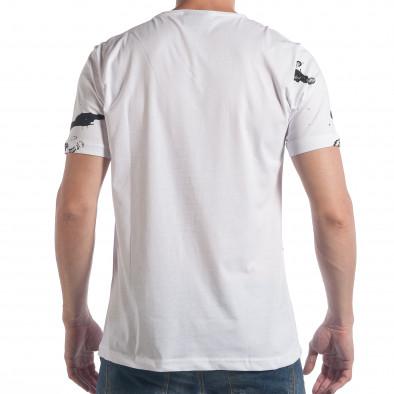 Ανδρική λευκή κοντομάνικη μπλούζα 2Y Premium tsf090617-49 3