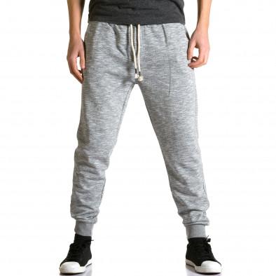 Ανδρικό γκρι παντελόνι jogger Enos ca190116-31 2