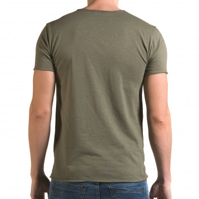 Ανδρική πράσινη κοντομάνικη μπλούζα FM it090216-76 3