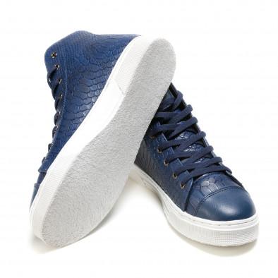 Ανδρικά γαλάζια sneakers Niadi it100915-6 4