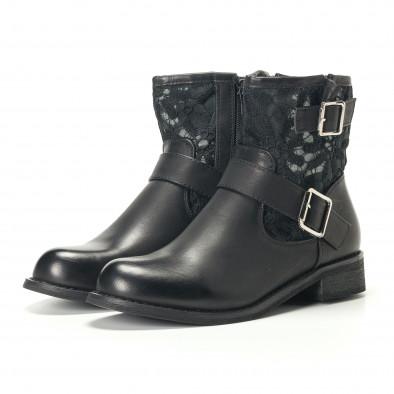 Γυναικεία μαύρα μποτάκια Diamantique it240118-5 4