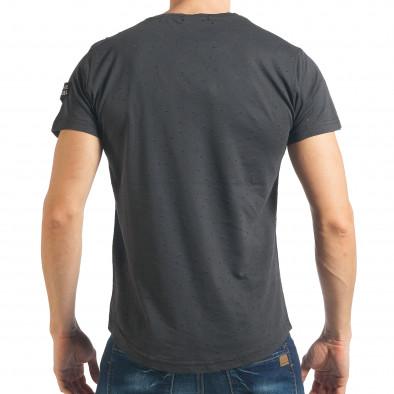 Ανδρική γκρι κοντομάνικη μπλούζα Madmext tsf020218-43 3
