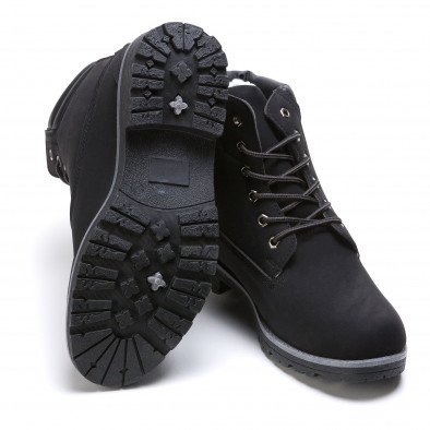 Ανδρικά μαύρα μποτάκια Leerd it021215-9 4