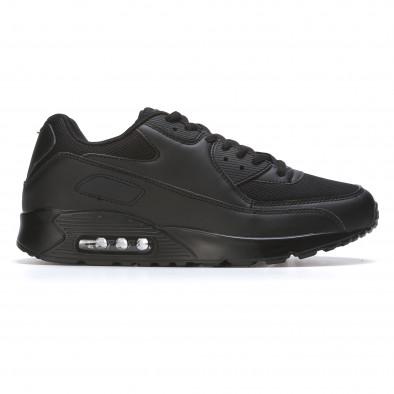 Ανδρικά μαύρα αθλητικά παπούτσια Fast Lee It050216-7 2
