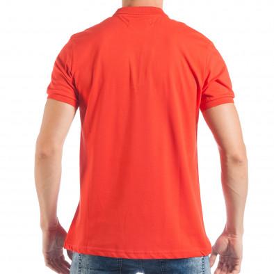 Ανδρική κόκκινη πόλο basic μοντέλο tsf250518-33 3