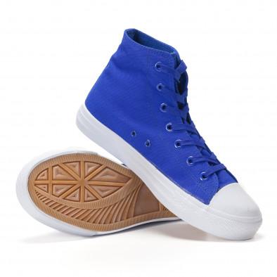 Ανδρικά γαλάζια sneakers Bella Comoda it250118-5 4