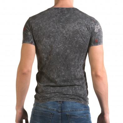 Ανδρική γκρι κοντομάνικη μπλούζα Lagos il120216-31 3