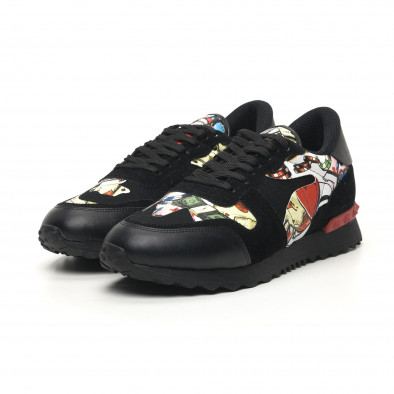 Ανδρικά μαύρα αθλητικά παπούτσια FM tr180320-29 3