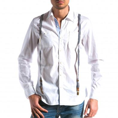 Ανδρικό λευκό πουκάμισο Bread & Buttons tsf100214-9 2
