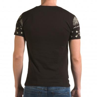 Ανδρική καφέ κοντομάνικη μπλούζα Lagos il120216-56 3