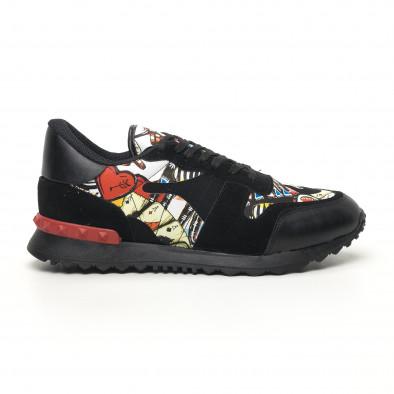 Ανδρικά μαύρα αθλητικά παπούτσια FM tr180320-29 2