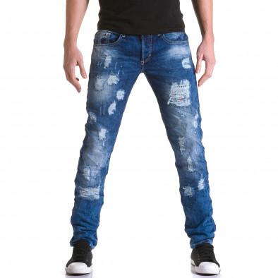 Ανδρικό γαλάζιο τζιν Justing it031215-6 2