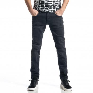 Ανδρικό μαύρο τζιν Long Slim tr010221-28 2