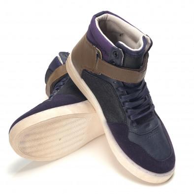 Ανδρικά γαλάζια sneakers Reeca it100915-19 4