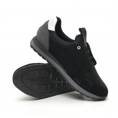 Ανδρικά μαύρα αθλητικά παπούτσια FM tr180320-31 4