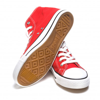 Ανδρικά κόκκινα sneakers Dilen it170315-11 4