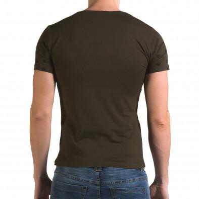 Ανδρική πράσινη κοντομάνικη μπλούζα Lagos il120216-54 3