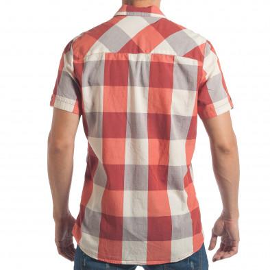 Ανδρικό κόκκινο κοντομάνικο πουκάμισο CROPP lp180717-124 3