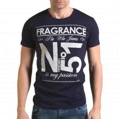 Ανδρική γαλάζια κοντομάνικη μπλούζα Lagos il120216-28 2