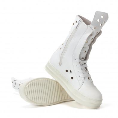 Γυναικεία λευκά μποτάκια Fersini it240118-29 5