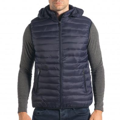 77d8f8fc9450 Ανδρικό γαλάζιο αμάνικο μπουφάν Ross Kemp it260917-87 - Fashionmix.gr