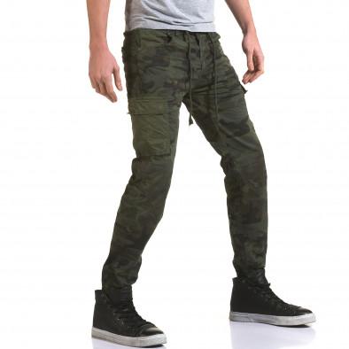 Ανδρικό πράσινο παντελόνι Yes Design it090216-11 4