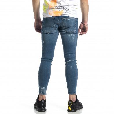 Ανδρικό μπλε τζιν με φερμουάρ στο πόδι tr270221-5 3